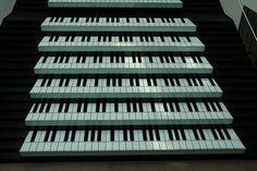 Piano Staircase in Shengdu, Beijing