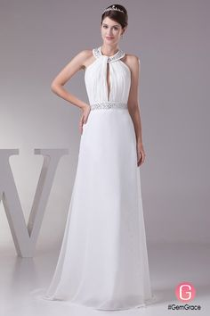 Only $164.9, Wedding Dresses Sequined Long Halter Elegant White Formal Dress Custom #OP4519 at #GemGrace. View more special Wedding Dresses,Beach Wedding Dresses now? GemGrace is a solution for those who want to buy delicate gowns with affordable prices, a solution for those who have unique ideas about their gowns. 2018 new arrivals, shop now to get $10 off!