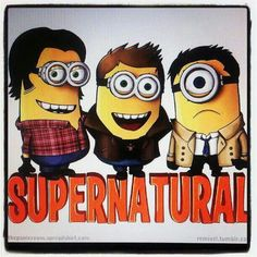 Funny pictures about Supernatural Minions. Oh, and cool pics about Supernatural Minions. Also, Supernatural Minions. Sam Winchester, Winchester Brothers, Castiel, Crowley, Koi, Minion Characters, Minions Love, Minions Minions, Minion Humor