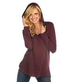 Another great find on #zulily! Pinot V-Neck Hooded Tunic by Kavio! #zulilyfinds