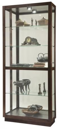Found it at Clockway.com - Howard Miller Wooden Curio Cabinet in Espresso Finish - CHM4062