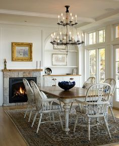 french farmhouse dining with windsor chairs - Google Search