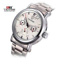 US $62.65 - Luxury Mens Watches Top Brand TEVISE Mechanical Watch Six-pin Multi Calendar Waterproof Men Watch Clock Steel Wristwatch for Men