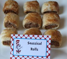 Seussical Rolls -- Sausage Rolls for a Dr Seuss inspired party!