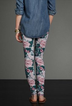 A&F Floral High Rise Leggings