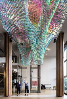 SOFTlab hanged a ventricle-like structure at the heart of Southbank Centre in London