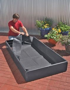Grow Bed Liner, 3' x 6' by Gardener's Supply. $49.95. Sized to fit our Grow Beds, these liners keep soil contained so you can install beds on a patio, paved area or concrete slab — any hard surface — without soil washing out and making a mess. They prevent weeds from infiltrating beds set on the lawn, too. Made from patented, double-layer polypropylene fabric that allows water to drain.