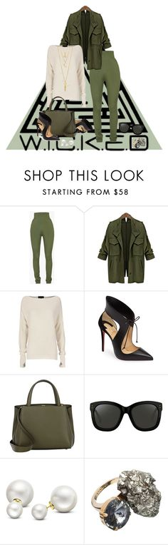 """""""🍂style"""" by britt-catlynne-weatherall ❤ liked on Polyvore featuring Balmain, Exclusive for Intermix, Christian Louboutin, Valextra, Linda Farrow, Allurez, Marni and BERRICLE"""