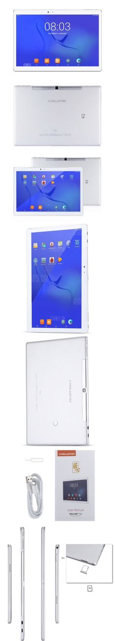 Teclast Master T10 Tablet PC Fingerprint Sensor  -  SILVER - Tablet Taclast Black Friday -   Android 7.0  ● MTK8176 Hexa Core 1.7GHz, up to 2.1GHz   ● 10.1 inch 10-point IPS Screen    2560 x 1600 resolution  ● 4GB RAM 64GB ROM   ● 128GB TF Card Expansion  ● Dual Cameras for Photos and Face-to-face Chat 8.0MP AF rear-facing camera + 13.0MP front camera ● Dual Band 2.4GHz / 5.0GHz WiFi