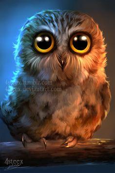 Poor owl by 4steex