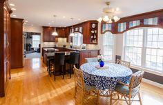 Bay window ties into kitchen design