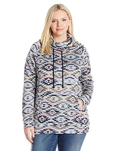 Clothing : Derek Heart Juniors Plus Size Danielles Cowl Neck Pullover Sweater Multi 2X >>> Want to know more, click on the image.-It is an affiliate link to Amazon. #Clothing