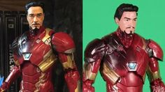 Tony Stark Iron Man Marvel Legends Action Figure Custom Repaint Before and After