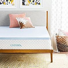 LINENSPA 2 Inch Gel Infused Memory Foam Mattress Topper – Queen size