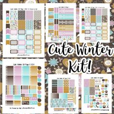 Cute Winter Kit! | Free Printable Planner Stickers