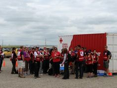 Red Cross outreach in High River. Emergency Responder, Red Cross, Calgary, Turning, Abs, Strong, Community, River, Crunches
