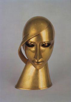 Art Deco 'Head in Brass' by Rudolf Belling Art Works, Metal Art, Sculpture Art, Degenerate Art, Sculpture, Art, Art Deco Sculpture, Famous Art, Art Deco Fashion