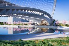 Santiago Calatrava Designs 3 New Bridges for Huashan,Licong Bridge. Image © Santiago Calatrava LLC