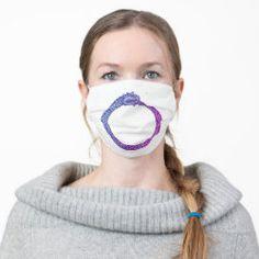 Cloth Face Mask OUROBOROS blue-purple Heart Wave, Norwegian Flag, Lesbian Pride, Flag Country, Pink Stripes, Polka Dots, Pink Glitter, Snug Fit, Sensitive Skin