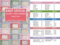 My new Knit Stitch Pattern Book gives you 50 unique hand-knit designs with chart diagrams and written instructions to knit both flat and in the round. Knitting Help, Knitting Books, Knitting Stitches, Knitting Designs, Knitting Projects, Knitting Patterns, Knitting Scarves, Knitting Ideas, Craft Patterns