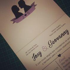 silhueta do casal convite de casamento wedding invite