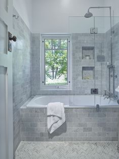 Traditional Bathroom - lovely inset bath with a shower combo, handy niche to kee. Traditional Bathroom - lovely inset bath with a shower combo, handy niche to keep all your bath/ shower items close . Bathtub Remodel, Shower Remodel, Bathroom Layout, Bathroom Interior Design, Bathroom Ideas, Bathroom Designs, Budget Bathroom, Bathroom Organization, Bath Ideas
