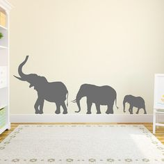 Mama And Baby Elephant Wall Decal Nursery Pinterest Baby - Nursery wall decals elephant