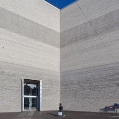 Folded facade.  The new exhibition wing of the Kunstmuseum Basel (opening was on 19.4.2016) in Basel, Switzerland.  Design by Christ & Gantenbein Architects, built 2010-2015.  I want to thank very, very much the administration of @kunstmuseumbasel for their kind invitation!  My next post in the upcoming days will show the fascinating interior of this new building.