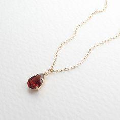 K18 vòng cổ kim cương garnet
