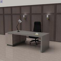 Ξύλινη Επένδυση Τοίχου σε Γραφείο - σε σκούρες αποχρώσεις κλασικού καπλαμά [Σειρά Vintage] Office Desk, Corner Desk, Furniture, Vintage, Home Decor, Corner Table, Desk Office, Decoration Home, Desk