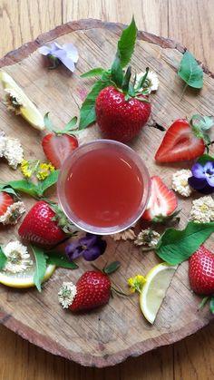 Strawberry Chrysanthemum Elixir - amazing summer drink