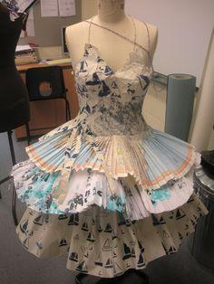 Urban nomad paper dress.