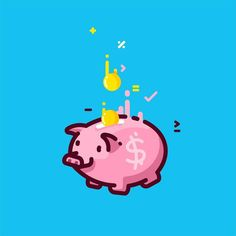 ___________________________ #design #illustration #draw #sketch #piggy #piggybank #bank #save #vector #money #cute #coins #art #icon #linework #dribbble #graphicroozane #cuteness #line #pink #graphicdesign #digitalart #pirategraphic #logo #vector #icon #iconaday by almigor