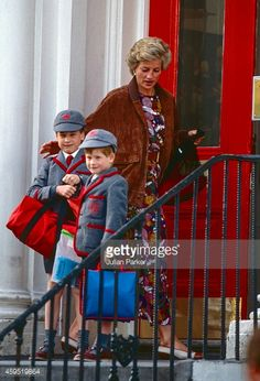 Diana, The Princess of Wales, taking Prince William And Prince Harry... News Photo | Getty Images