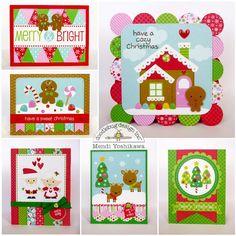 Searchwords: Doodlebug Sugarplums Christmas Card Set by Mendi Yoshikawa