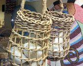 Garlic Baskets Plain reed keeper by basketrybotanica on Etsy
