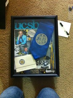Shadow box for my mom with all my college graduation stuff!