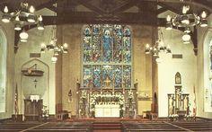 Interior of Old Mariners' Church - Detroit,Michigan Postcard