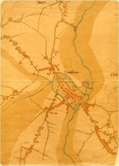 Stadsplattegrond Eindhoven van rond 1560 getekend door Jacob van Deventer. Eindhoven, City Maps, Old City, Abstract, Artwork, Pictures, Summary, Work Of Art, Old Town