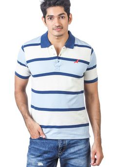 96141d880 Buy American Crew Navy Blue Striped Polo T-Shirts Online - 2893619 - Jabong
