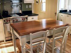 20 Beautiful Kitchen Islands With Seating  Butcher Blocks Dark Cool Kitchen Island Counter Inspiration
