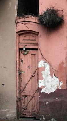 Pink Door on Bourbon Street, French Quarter, New Orleans, LA.