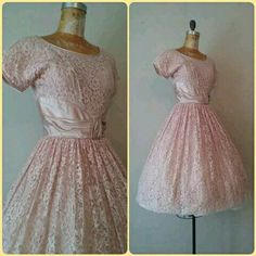 Pretty Vintage Pink Prom Dress RK Originals Pink by RackedVintage