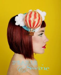 "Hot Air Balloon Fascinator ""Up Up and Away"""