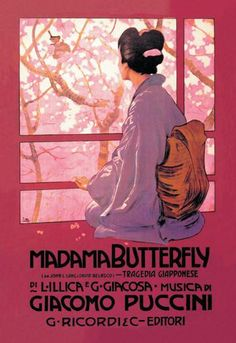 Madama butterfly 12x18 giclee on canvas
