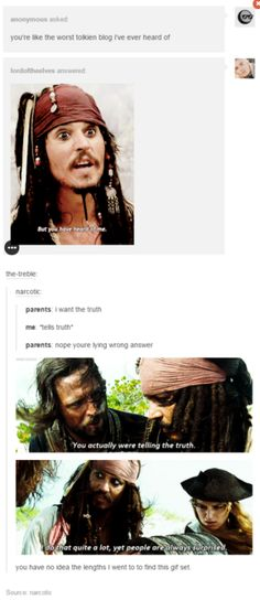 Pirates of the Caribbean tumblr posts