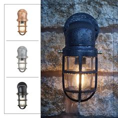 Retro Lighting, Industrial Lighting, Wall Lights, Ceiling Lights, Wall Mounted Light, Vintage Industrial, Candle Sconces, Outdoor Spaces, Coffee Shop
