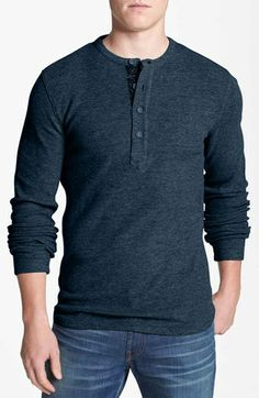 Façonnable Waffle Knit Henley T-Shirt available at #Nordstrom