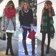 3 opções de looks para quem vai viajar pro frio!  - 3 winter looks! Very cozy! Which one? 1⃣,2⃣ or 3⃣?