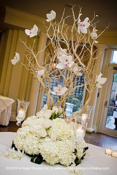 Wedding ideas: step-by-step instructions for making manzanita branch centerpieces by modwedding, via Flickr